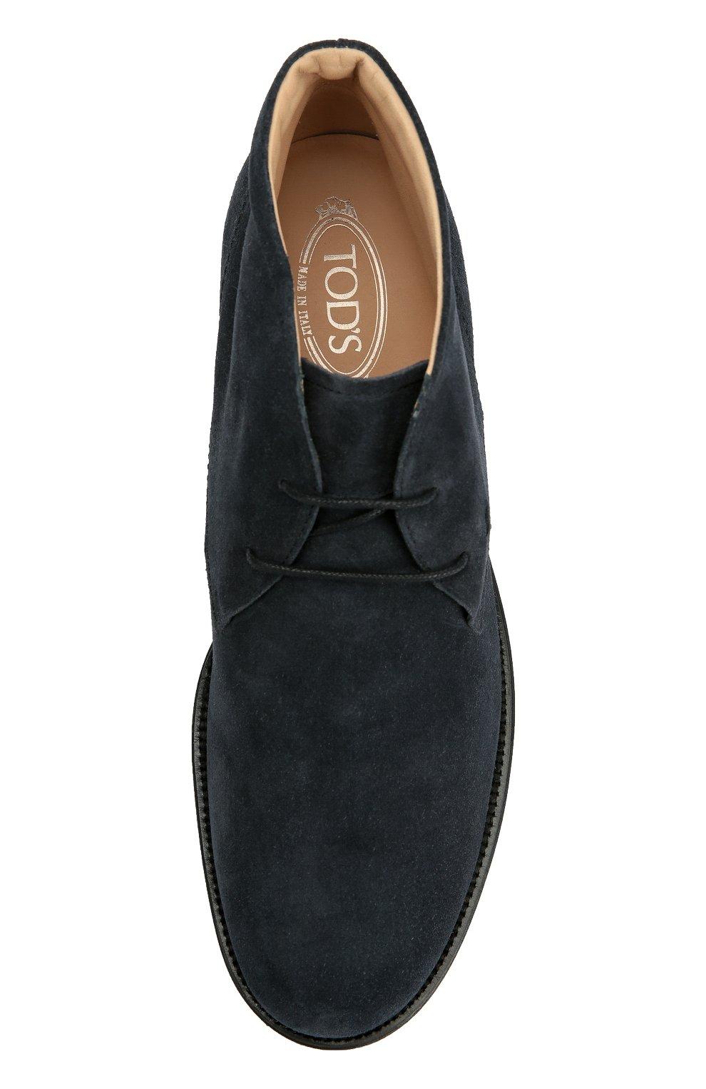 Замшевые ботинки Gomma Tod's темно-синие | Фото №5