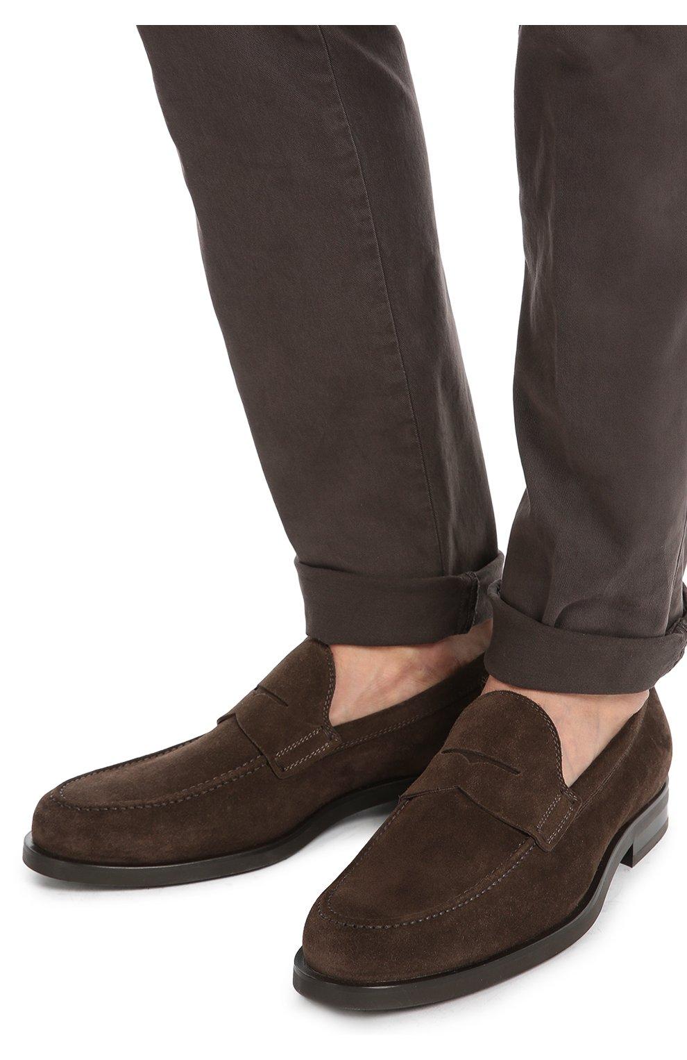 Замшевые пенни-лоферы Tod's коричневые | Фото №2
