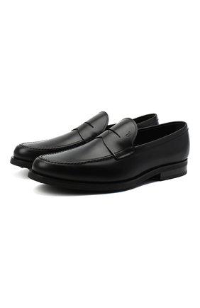 Мужские кожаные пенни-лоферы TOD'S черного цвета, арт. XXM0ZF0Q920PLS | Фото 1