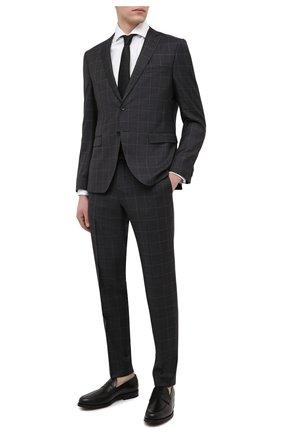 Мужские кожаные пенни-лоферы TOD'S черного цвета, арт. XXM0ZF0Q920PLS | Фото 2