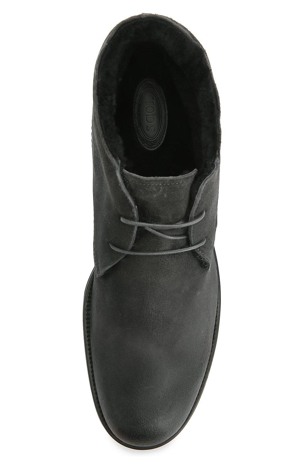 Замшевые ботинки с внутренней отделкой из овчины | Фото №5