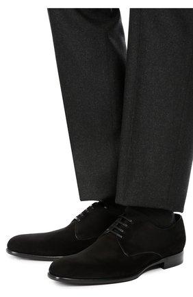 Классические замшевые дерби Dolce & Gabbana черные | Фото №2
