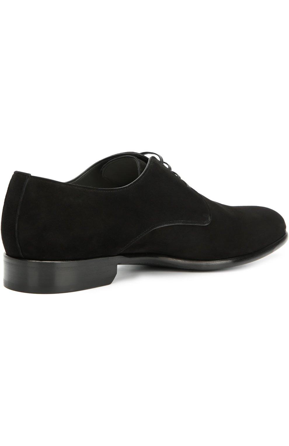 Классические замшевые дерби Dolce & Gabbana черные | Фото №5