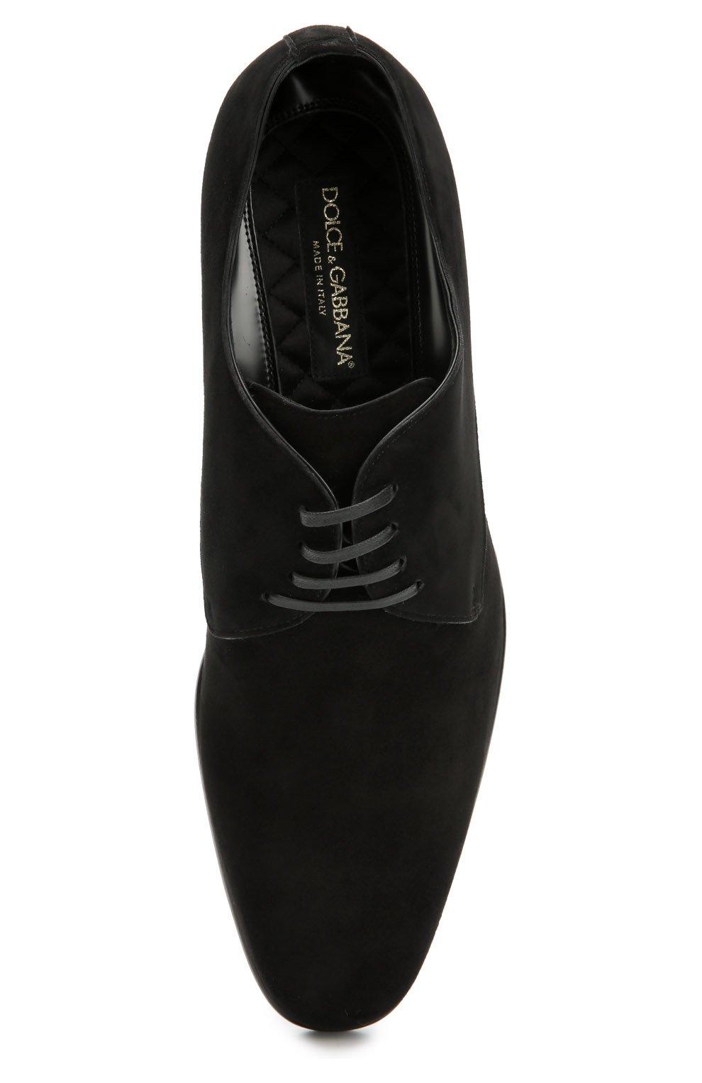 Классические замшевые дерби Dolce & Gabbana черные | Фото №6