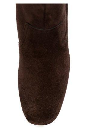 Замшевые ботильоны Gomma на фигурном каблуке Tod's коричневые | Фото №5