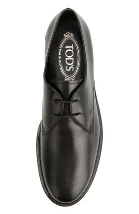 Кожаные дерби Gomma на шнуровке Tod's черные | Фото №5