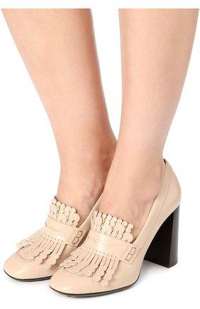 Кожаные туфли Gomma с декором | Фото №2