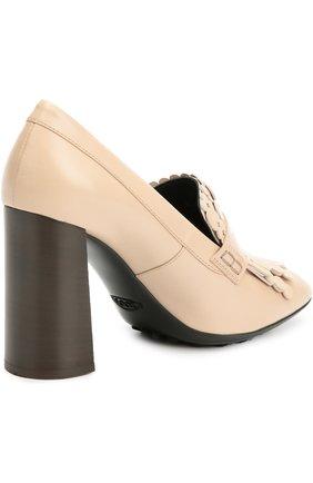 Кожаные туфли Gomma с декором | Фото №4