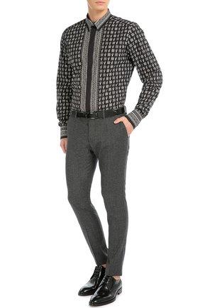 Хлопковая рубашка с принтом Dolce & Gabbana черная | Фото №2