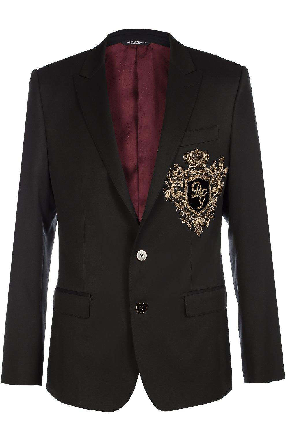 Шерстяной пиджак с вышивкой канителью | Фото №1