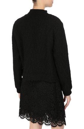 Пуловер фактурной вязки с вышивкой пайетками | Фото №4