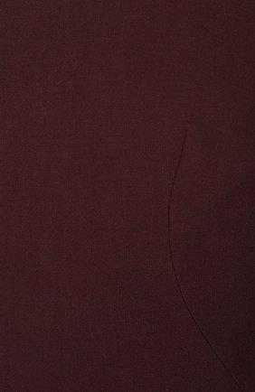 Платье-футляр с укороченным рукавом и вырезом-лодочка Dolce & Gabbana бордовое | Фото №5
