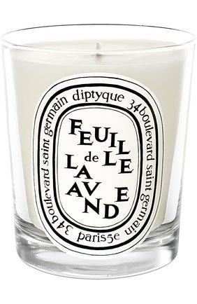 Мужская свеча feuille de lavande DIPTYQUE бесцветного цвета, арт. 3700431400161 | Фото 1