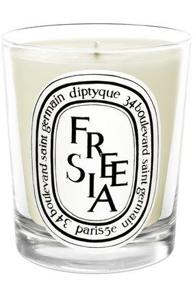 Мужская свеча freesia DIPTYQUE бесцветного цвета, арт. 3700431400192 | Фото 1