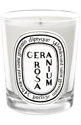 Мужская свеча geranium rosa DIPTYQUE бесцветного цвета, арт. 3700431400222 | Фото 1