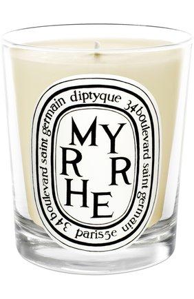 Мужская свеча myrrhe  DIPTYQUE бесцветного цвета, арт. 3700431400383 | Фото 1
