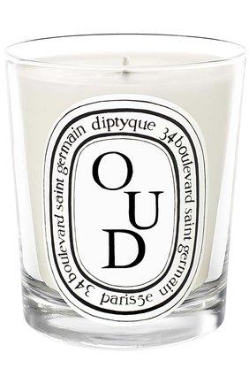 Мужская свеча oud DIPTYQUE бесцветного цвета, арт. 3700431409799 | Фото 1