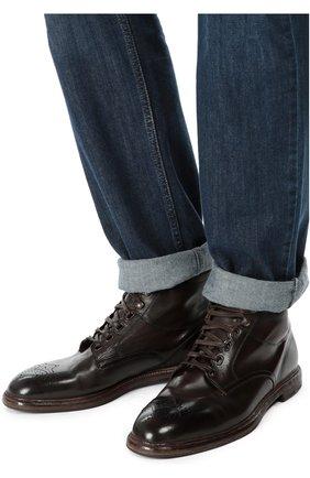 Кожаные полуботинки Marsala с брогированием | Фото №2