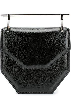 Сумка Mini Amor Fati из лаковой кожи M2Malletier черного цвета   Фото №1