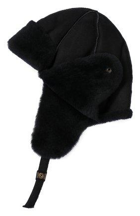 Детского шапка из овчины PETIT NORD синего цвета, арт. 2101   Фото 2 (Материал: Натуральный мех, Овчина, Кожа; Статус проверки: Проверено, Проверена категория)