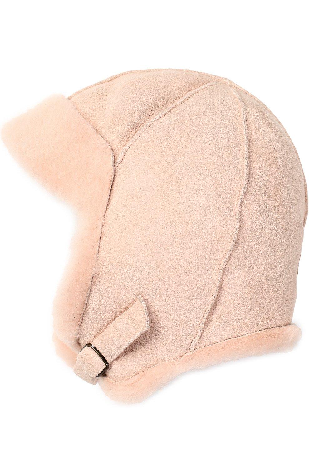 4cfe6051 Шапка из овчины PETIT NORD розового цвета — купить за 8195 руб. в ...