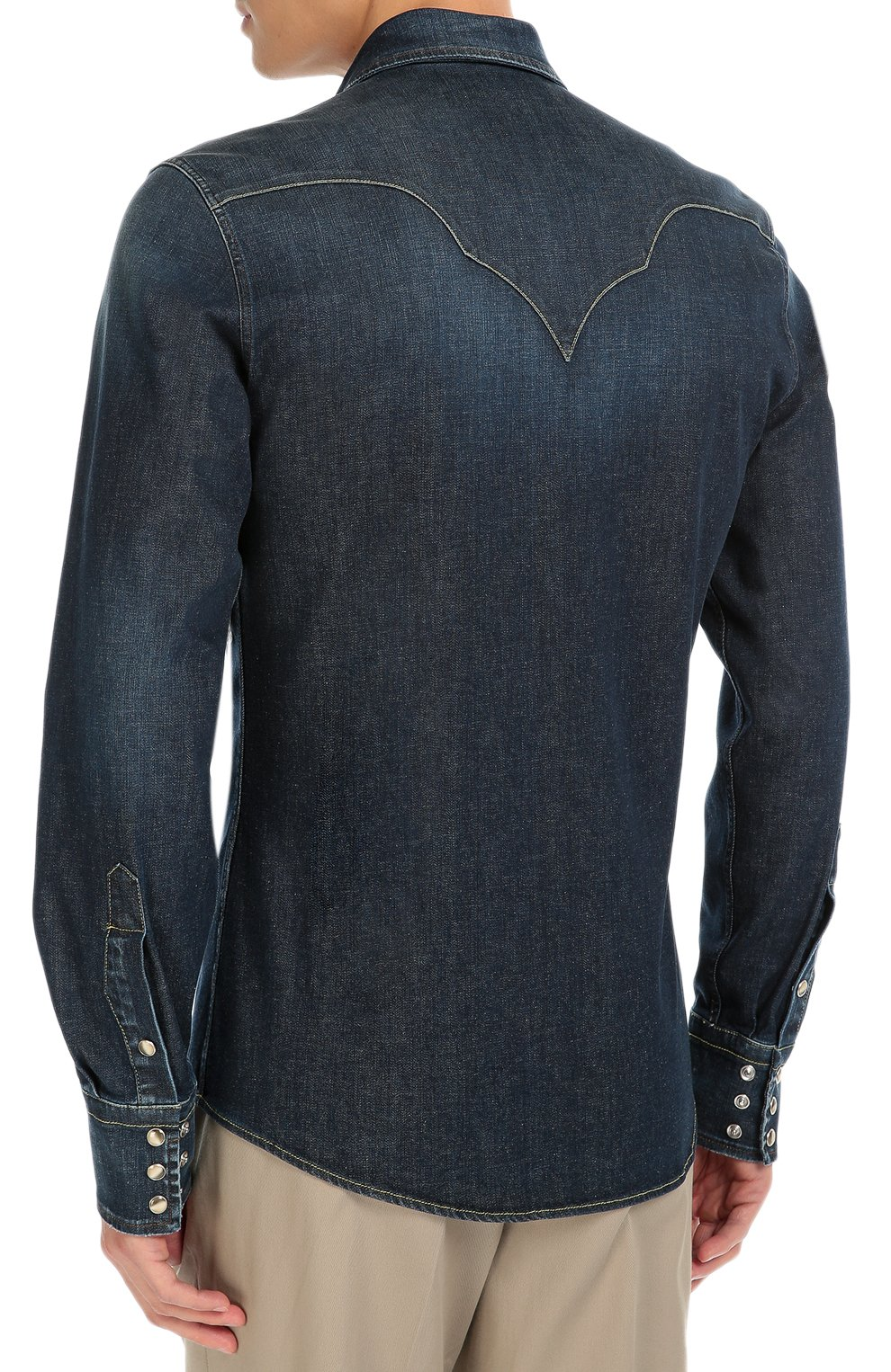 Джинсовая рубашка с вышивкой | Фото №3