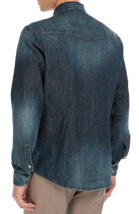 Джинсовая рубашка с вышивкой Dolce & Gabbana синяя | Фото №4