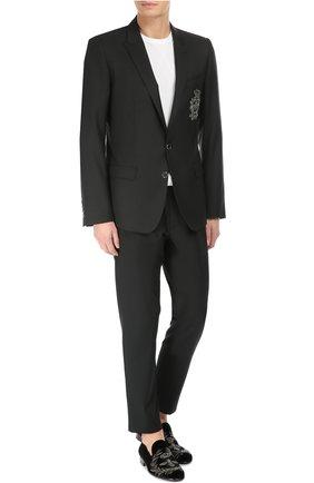 Бархатные слиперы Milano с вышивкой Dolce & Gabbana черные | Фото №3