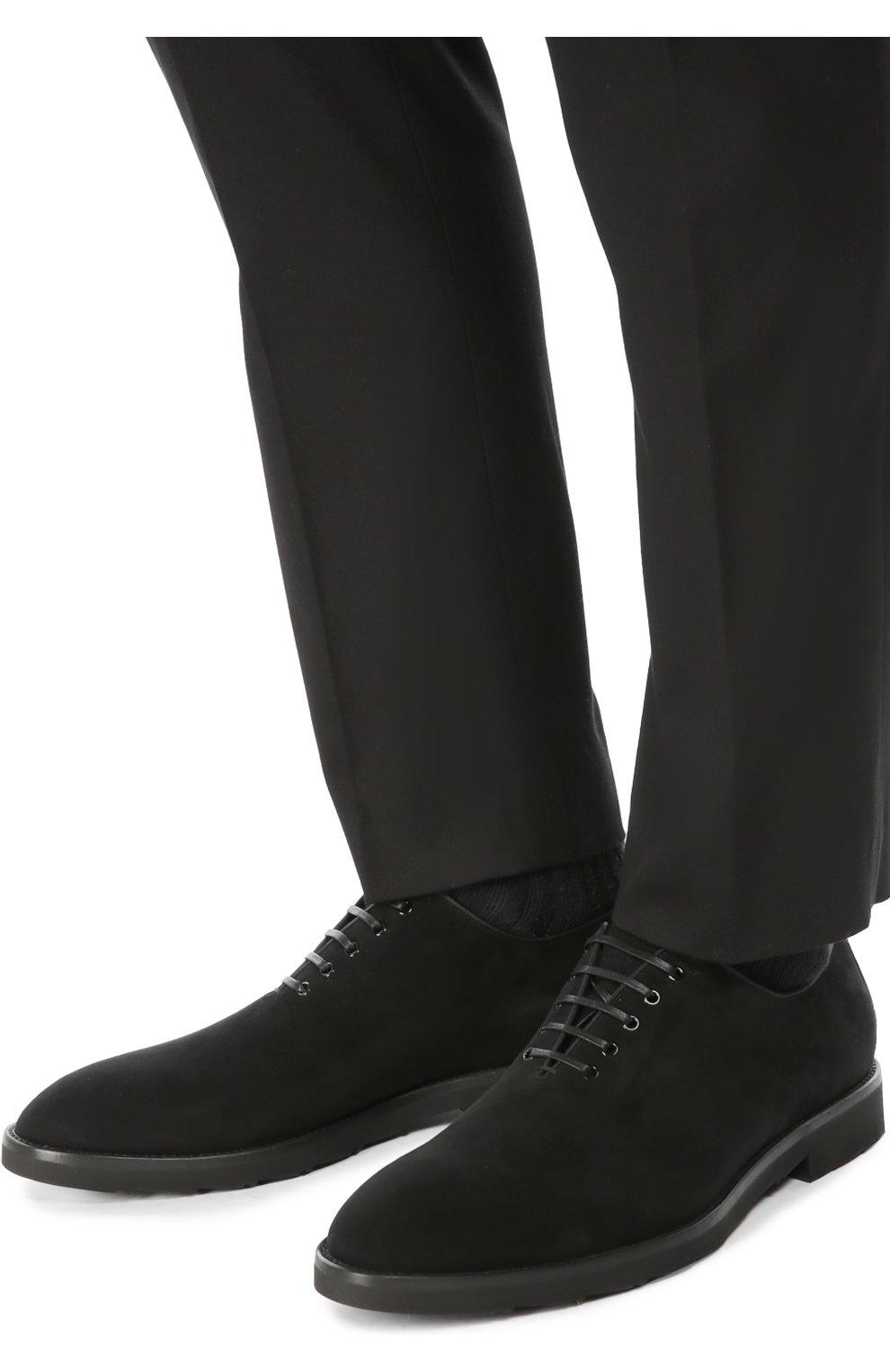 Замшевые оксфорды Sicilia Dolce & Gabbana черные   Фото №2