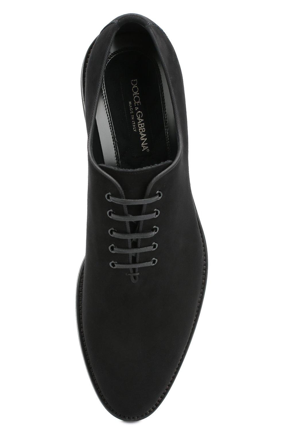 Замшевые оксфорды Sicilia Dolce & Gabbana черные   Фото №6