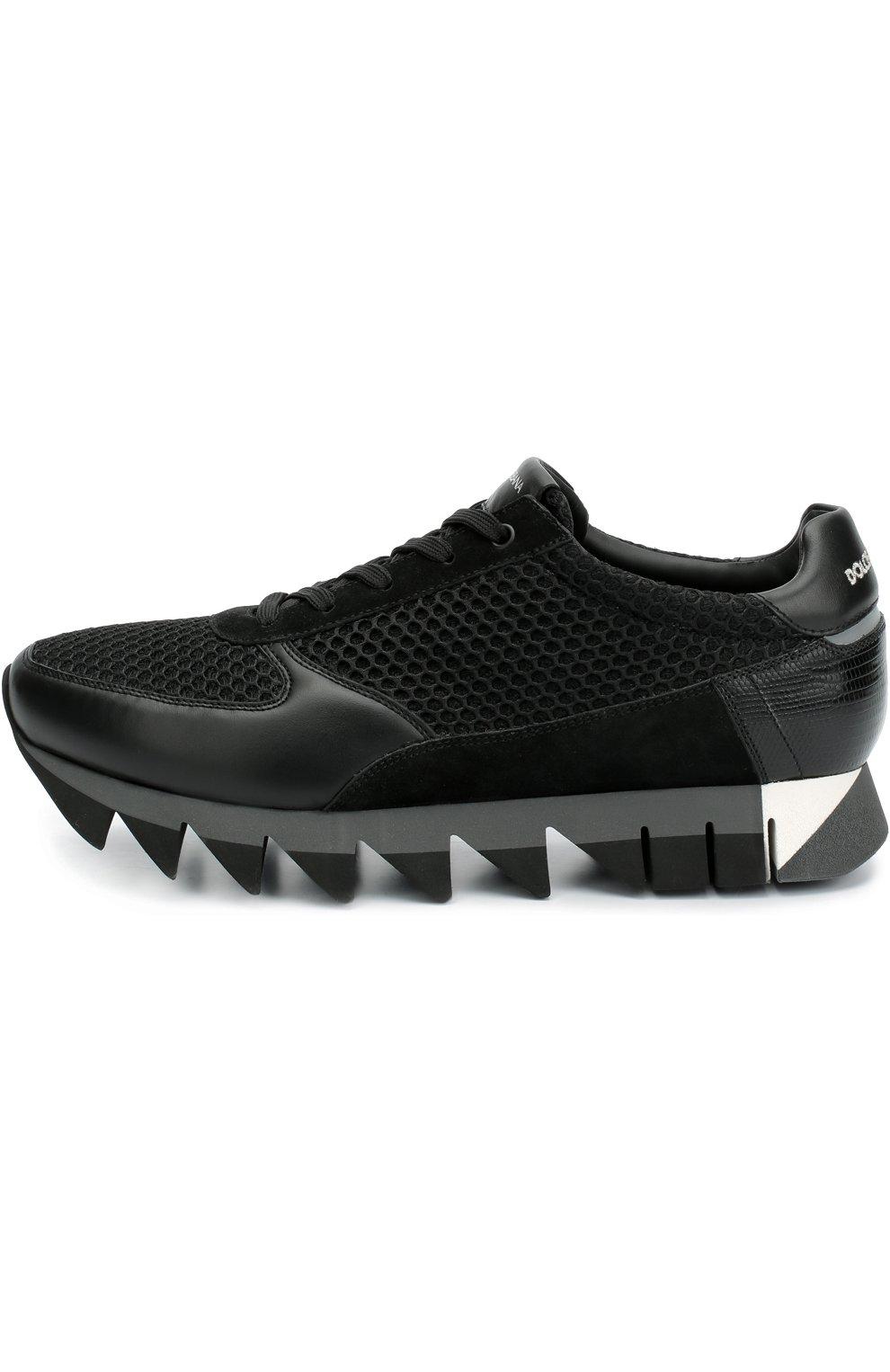 Комбинированные кроссовки Capri на толстой подошве | Фото №1