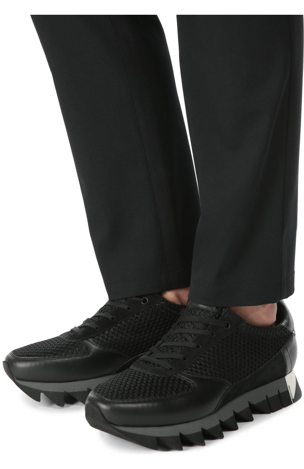 Комбинированные кроссовки Capri на толстой подошве | Фото №2
