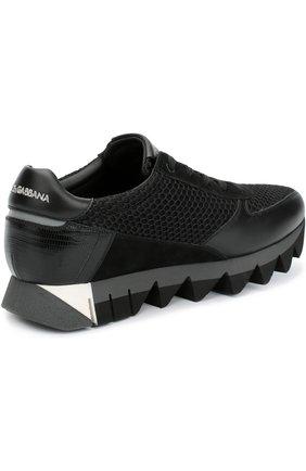 Комбинированные кроссовки Capri на толстой подошве | Фото №5