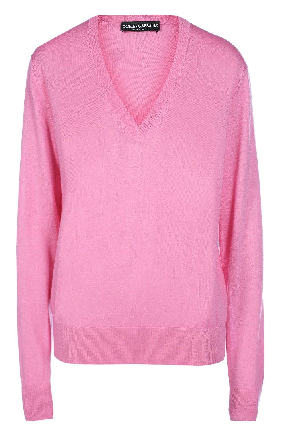 Кашемировый пуловер прямого кроя с V-образным вырезом   Фото №1