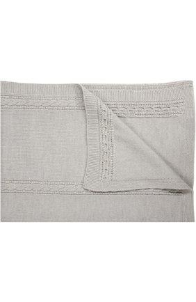 Детского одеяло из шерсти фактурной вязки BABY T серого цвета, арт. 16AI022C0 | Фото 1
