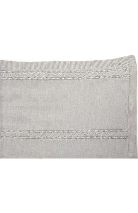 Детского одеяло из шерсти фактурной вязки BABY T серого цвета, арт. 16AI022C0 | Фото 2