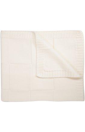 Вязаное одеяло из шерсти Baby T белого цвета | Фото №1