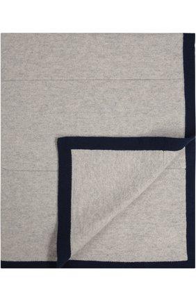 Одеяло из смеси шерсти и кашемира Baby T серого цвета | Фото №1