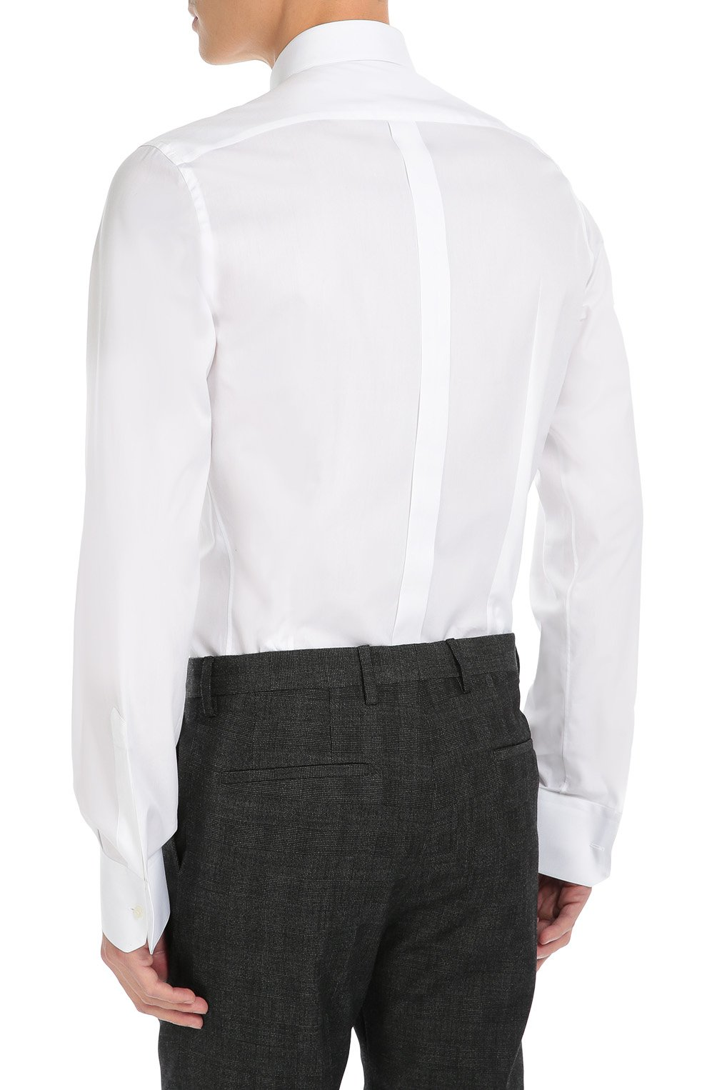 Хлопковая сорочка с вышивкой   Dolce & Gabbana белая | Фото №4