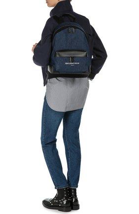 Рюкзак Navy из денима с кожаной отделкой   Фото №2