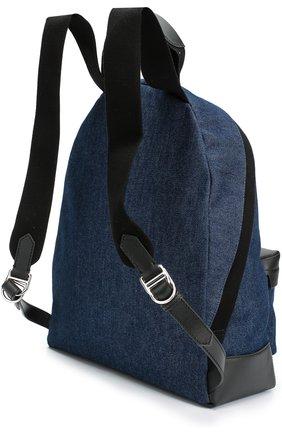 Рюкзак Navy из денима с кожаной отделкой   Фото №3