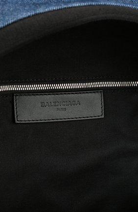 Рюкзак Navy из денима с кожаной отделкой   Фото №4