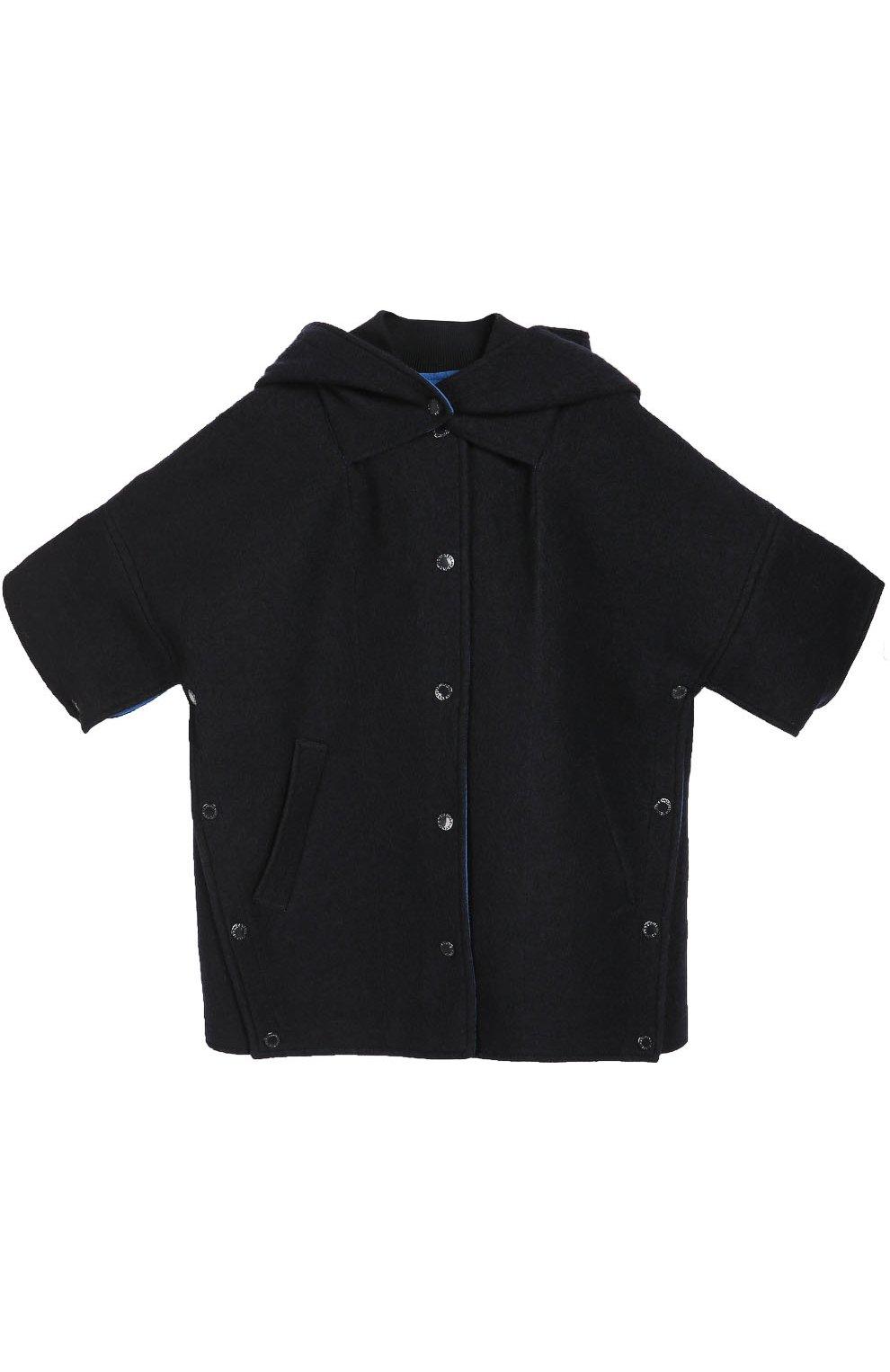 9191210c1d3d Шерстяной кейп с капюшоном STELLA MCCARTNEY синего цвета — купить за ...