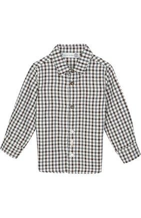 Хлопковая рубашка в клетку Hitch-hiker разноцветного цвета | Фото №1