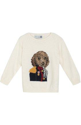 Пуловер с принтом Hitch-hiker разноцветного цвета | Фото №1