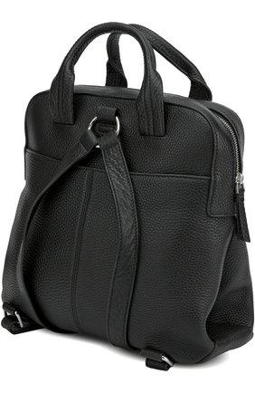 Кожаный рюкзак с двумя ручками и внешним карманом   Фото №3