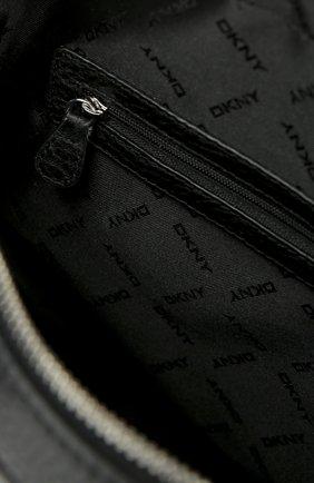 Кожаный рюкзак с двумя ручками и внешним карманом   Фото №4