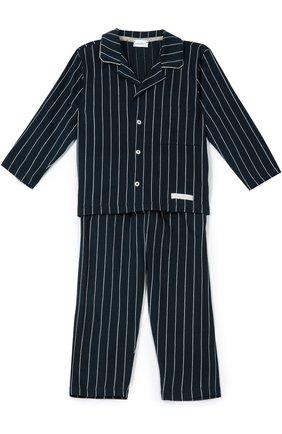 Хлопковая пижама в полоску | Фото №1