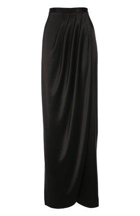 Макси-юбка асимметричного кроя с защипами | Фото №1