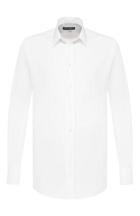Мужская хлопковая сорочка DOLCE & GABBANA белого цвета, арт. 0101/G5DM6T/FUEAJ | Фото 1